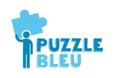 logo puzzle bleu